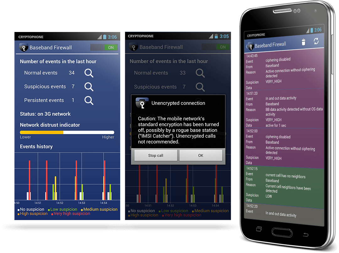 Baseband Firewall Screenshots